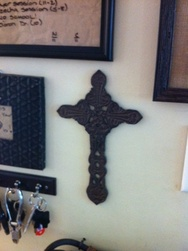 photo of iron celtic cross