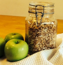 Jar of Granola and Apples