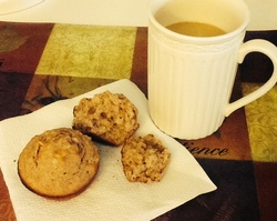 Apple Oatmeal Muffin and Coffee